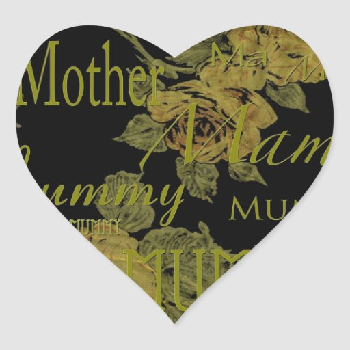 All Mothers' Day Heart Stickers