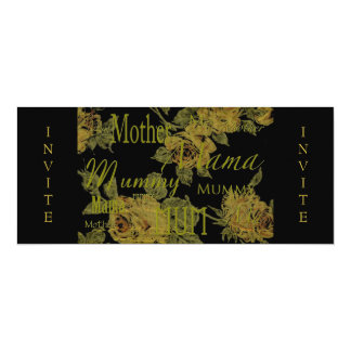 All Mothers' Day 4x9.25 Paper Invitation Card