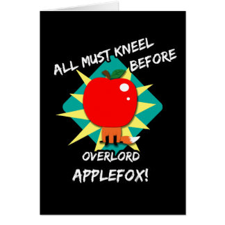 All must kneel before overlord applefox card