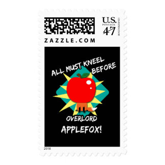 All must kneel before overlord applefox postage stamp