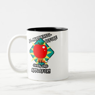 All must kneel before overlord applefox Two-Tone coffee mug