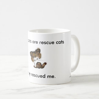 """all my cats are rescue cats"" charity coffee mug"