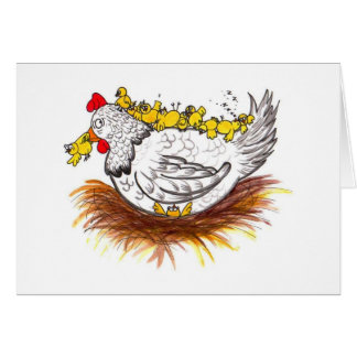 All my chickens card