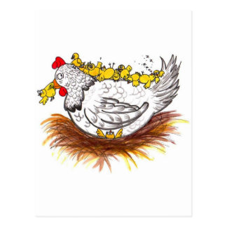 All my chickens postcard