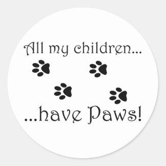All my children... classic round sticker