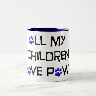 all my children have paws mug