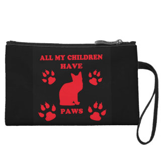 All My Children Have Paws Wristlet
