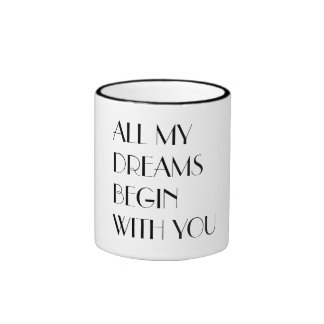All My Dreams Ringer Mug