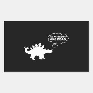 All My Friends Are Dead Stegosaurus Rectangular Sticker