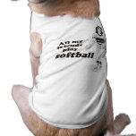 All my friends play softball pet tee shirt