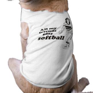 All my friends play softball tee