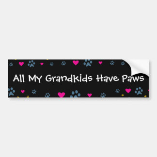 All My Grandkids-Grandchildren Have Paws Bumper Sticker