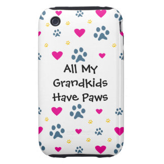 All My Grandkids-Grandchildren Have Paws Tough iPhone 3 Cover