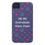 All My Grandkids-Grandchildren Have Paws Case-Mate iPhone 4 Cases