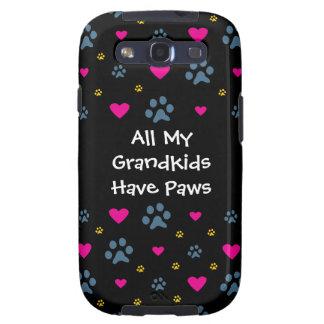 All My Grandkids-Grandchildren Have Paws Samsung Galaxy S3 Cases