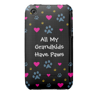 All My Grandkids-Grandchildren Have Paws Case-Mate iPhone 3 Cases