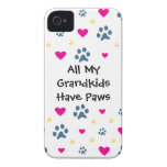 All My Grandkids-Grandchildren Have Paws iPhone 4 Case-Mate Case