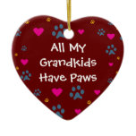 All My Grandkids-Grandchildren Have Paws Ceramic Ornament