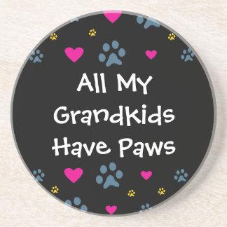 All My Grandkids-Grandchildren Have Paws Drink Coaster