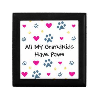All My Grandkids-Grandchildren Have Paws Keepsake Boxes