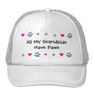 All My Grandkids-Grandchildren Have Paws Trucker Hat