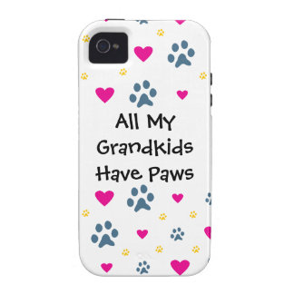 All My Grandkids-Grandchildren Have Paws iPhone 4/4S Cases