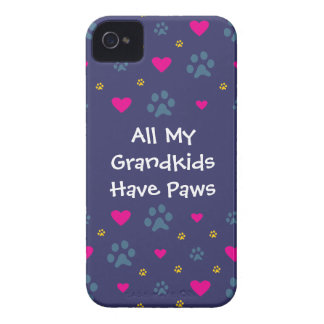 All My Grandkids-Grandchildren Have Paws iPhone 4 Cases