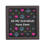All My Grandkids-Grandchildren Have Paws Jewelry Box