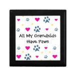 All My Grandkids-Grandchildren Have Paws Keepsake Box
