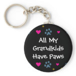 All My Grandkids-Grandchildren Have Paws Keychain
