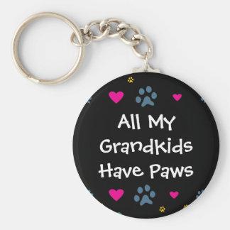 All My Grandkids-Grandchildren Have Paws Keychain