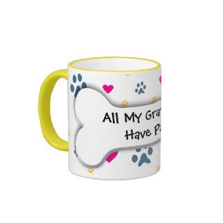 All My Grandkids-Grandchildren Have Paws Ringer Coffee Mug