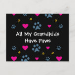 All My Grandkids-Grandchildren Have Paws Postcard