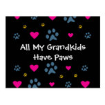 All My Grandkids-Grandchildren Have Paws Postcard