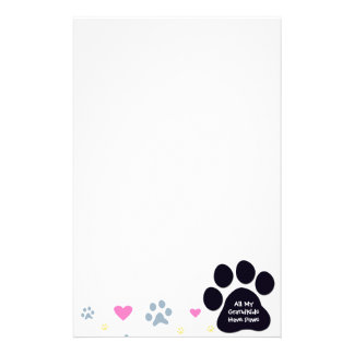 All My Grandkids-Grandchildren Have Paws Personalized Stationery