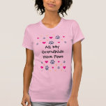 All My Grandkids-Grandchildren Have Paws T-Shirt