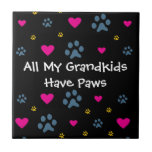 All My Grandkids-Grandchildren Have Paws Tile