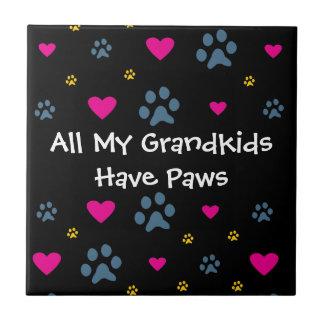 All My Grandkids-Grandchildren Have Paws Ceramic Tiles