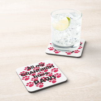 All My Grandkids Have Paws Beverage Coaster