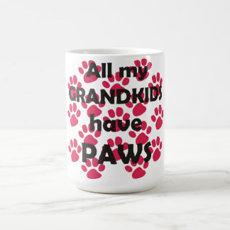 All My Grandkids Have Paws Classic White Coffee Mug