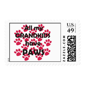 All My Grandkids Have Paws Postage