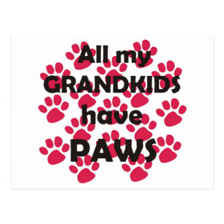 All My Grandkids Have Paws Postcard