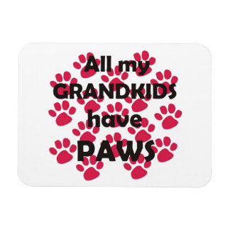 All My Grandkids Have Paws Rectangular Photo Magnet
