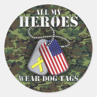 All My Heroes Wear Dog Tags - Camo