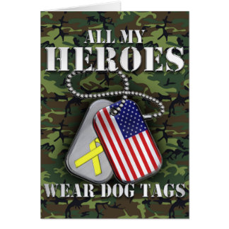 All My Heroes Wear Dog Tags - Camo Card