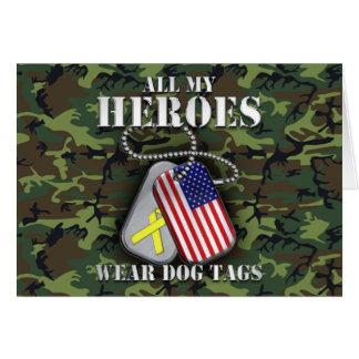 All My Heroes Wear Dog Tags - Camo Card