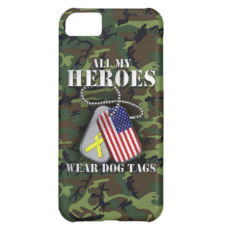 All My Heroes Wear Dog Tags - Camo Cover For iPhone 5C