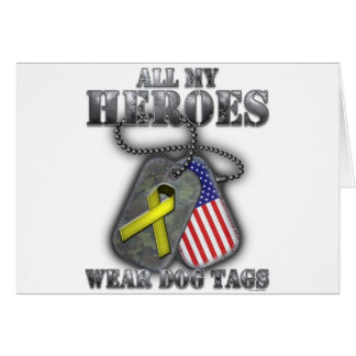 All My Heroes Wear Dog Tags Card