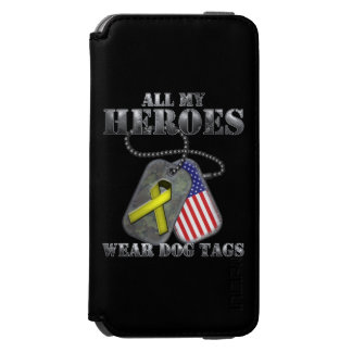 All My Heroes Wear Dog Tags iPhone 6/6s Wallet Case