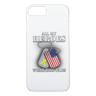 All My Heroes Wear Dog Tags iPhone 8/7 Case